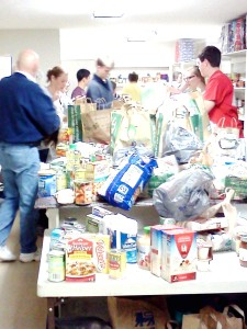 Stocking the Food Pantry Nov 2012